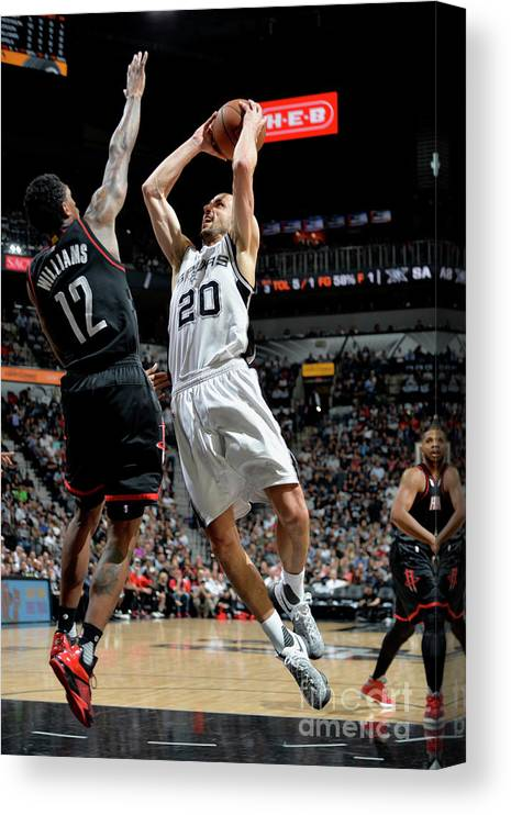 Game Two Canvas Print featuring the photograph Houston Rockets V San Antonio Spurs - by Mark Sobhani