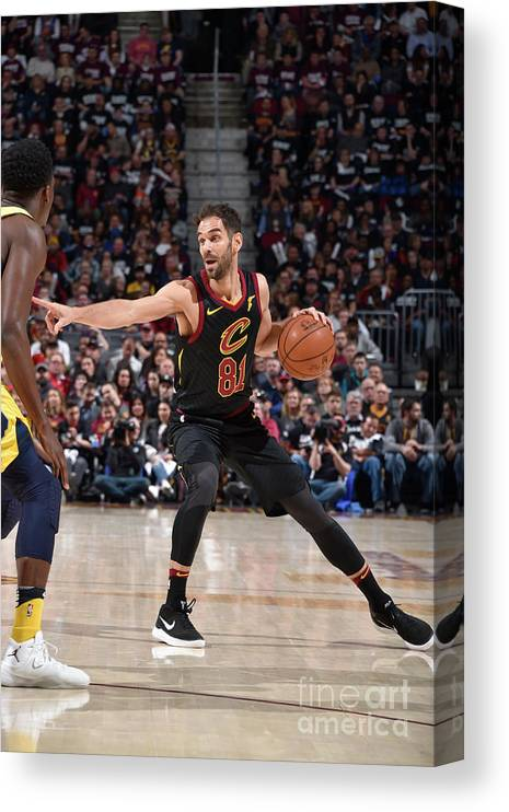 Playoffs Canvas Print featuring the photograph Indiana Pacers V Cleveland Cavaliers - by David Liam Kyle