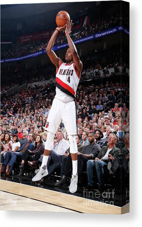 Moe Harkless Canvas Print featuring the photograph La Clippers V Portland Trail Blazers by Sam Forencich