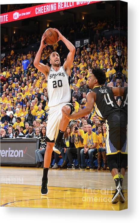 Playoffs Canvas Print featuring the photograph San Antonio Spurs V Golden State by Andrew D. Bernstein