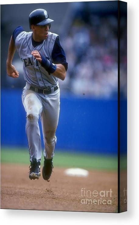 People Canvas Print featuring the photograph Alex Rodriguez 3 by Al Bello