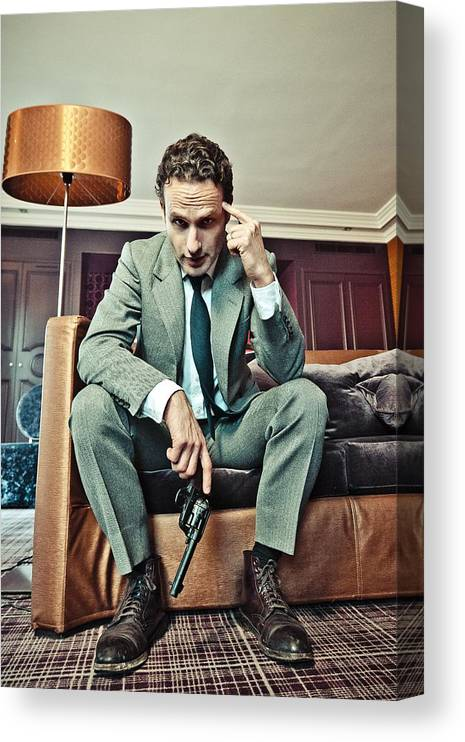 Event Canvas Print featuring the photograph Andrew Lincoln - Portrait Session by Laurent Koffel