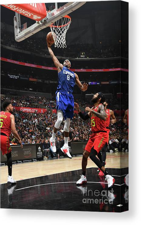 Moe Harkless Canvas Print featuring the photograph Atlanta Hawks V La Clippers by Andrew D. Bernstein
