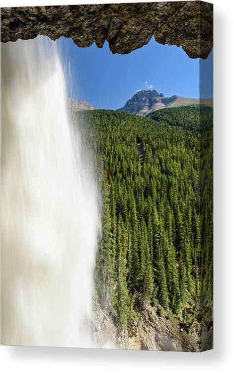 Behind Panther Falls - Vertical Canvas Print featuring the photograph Behind Panther Falls - Vertical by Michael Blanchette Photography