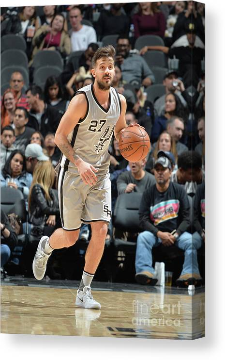 Nicolás Laprovittola Canvas Print featuring the photograph Brooklyn Nets V San Antonio Spurs by Mark Sobhani