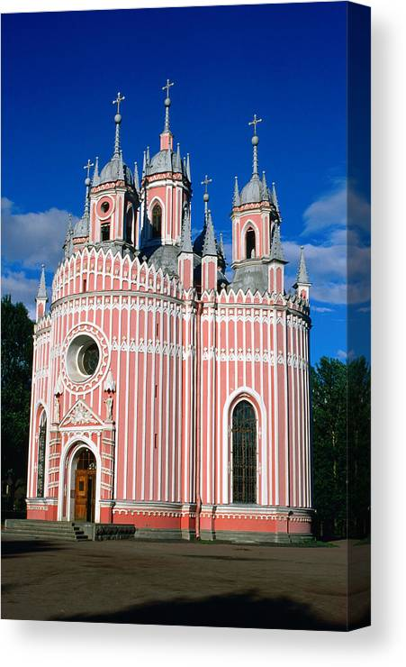 Gothic Style Canvas Print featuring the photograph Candy Stripes Of Chesma Church, St by Lonely Planet