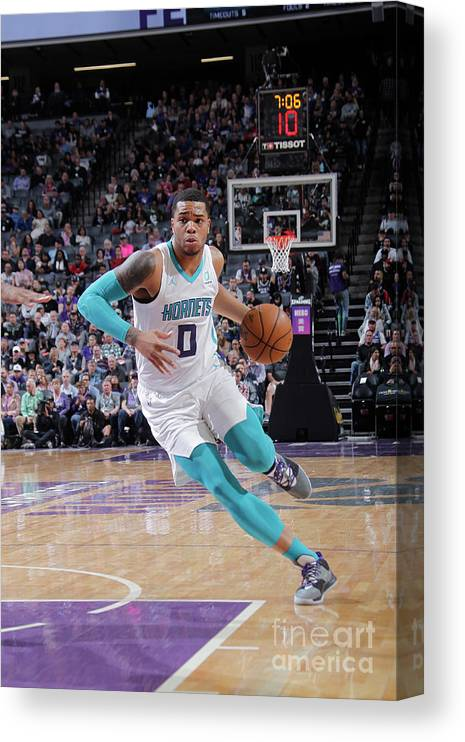 Nba Pro Basketball Canvas Print featuring the photograph Charlotte Hornets V Sacramento Kings by Rocky Widner