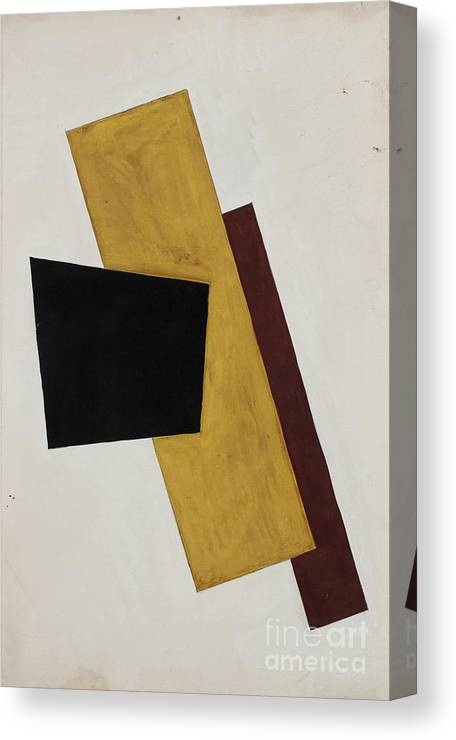 Gouache Canvas Print featuring the drawing Composition. Artist Popova, Lyubov by Heritage Images