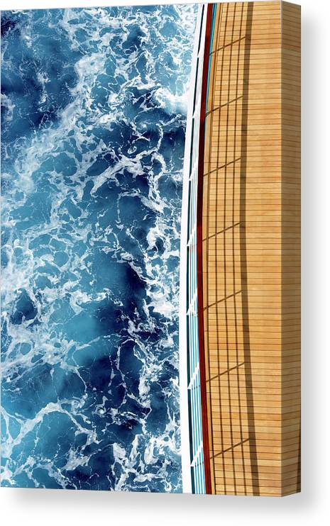 Shadow Canvas Print featuring the photograph Cruise Ship And Ocean by David Sacks