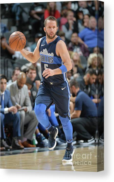 Nba Pro Basketball Canvas Print featuring the photograph Dallas Mavericks V San Antonio Spurs by Mark Sobhani