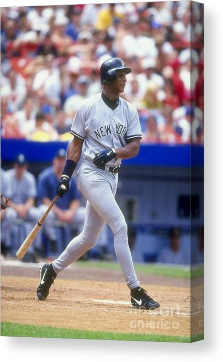 People Canvas Print featuring the photograph Darryl Strawberry 39 by David Seelig