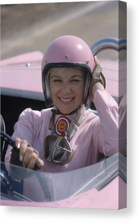 Crash Helmet Canvas Print featuring the photograph Donna Mae Mims by Bill Ray