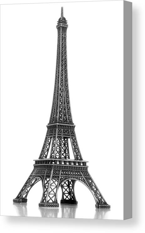 Architectural Model Canvas Print featuring the photograph Eiffel Tower by Jamesmcq24