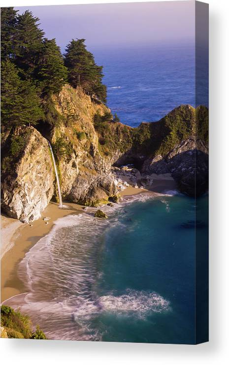 Tranquility Canvas Print featuring the photograph Evening At Mcway Falls by By Sathish Jothikumar