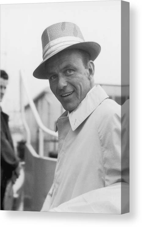Singer Canvas Print featuring the photograph Frank Sinatra by J. Wilds