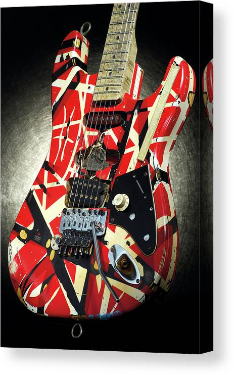 Music Canvas Print featuring the photograph Frankenstrat Studio Shoot by Guitarist Magazine