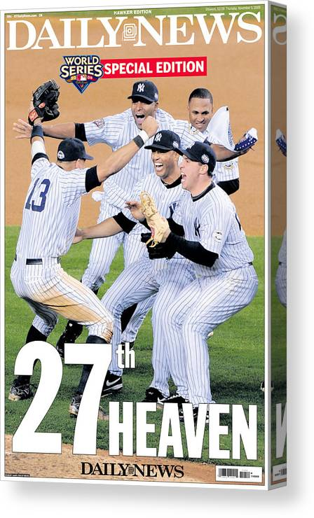 Celebration Canvas Print featuring the photograph Front Page Wrap Of The Daily News by New York Daily News Archive
