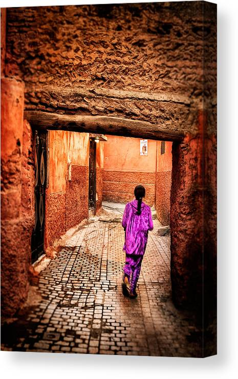 Child Canvas Print featuring the photograph Girl In Marrakech by Nature And Beauty Photographer