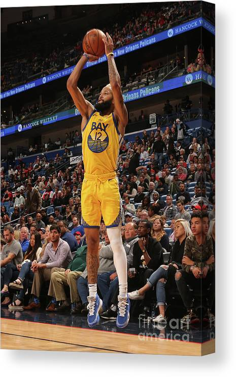 Smoothie King Center Canvas Print featuring the photograph Golden State Warriors V New Orleans by Layne Murdoch Jr.