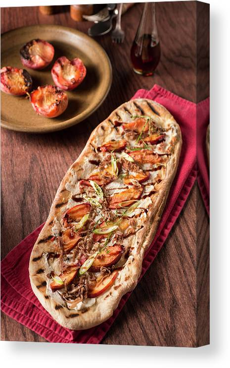 Cheese Canvas Print featuring the photograph Gourmet Pizza by Rudisill