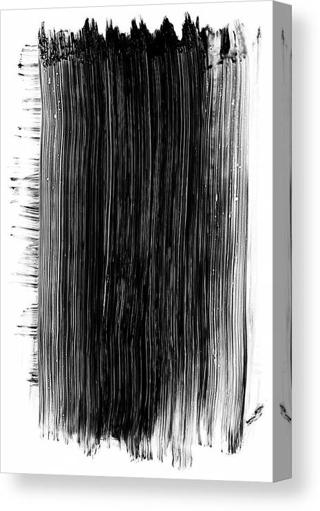 Art Canvas Print featuring the photograph Grunge Black Paint Brush Stroke by 77studio