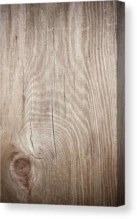 Material Canvas Print featuring the photograph Grunge Wood Textured Background With by Hudiemm