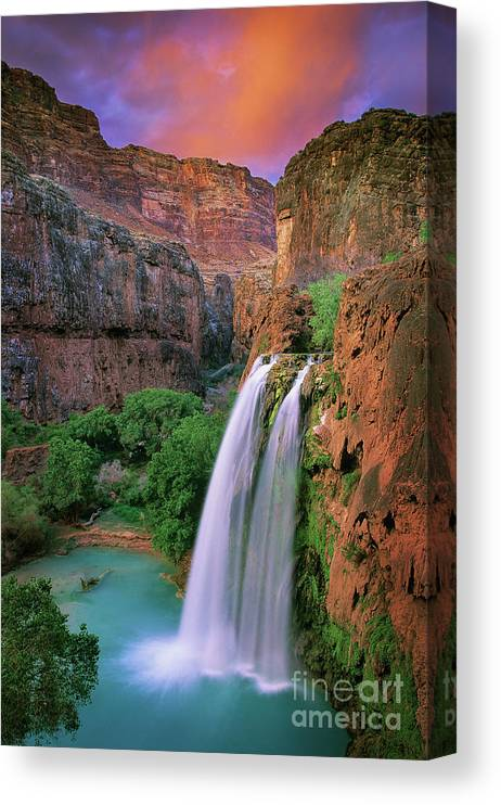 America Canvas Print featuring the photograph Havasu Falls by Inge Johnsson
