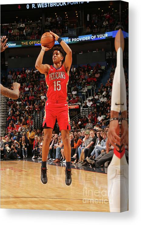 Smoothie King Center Canvas Print featuring the photograph Houston Rockets V New Orleans Pelicans by Layne Murdoch Jr.
