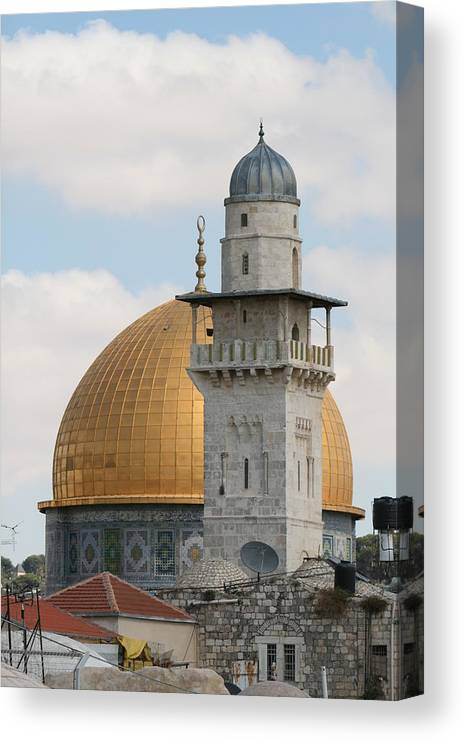 Arch Canvas Print featuring the photograph Jerusalem by Yelena Strokin