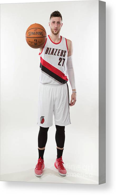 Jusuf Nurkić Canvas Print featuring the photograph Jusuf Nurkic Photo Shoot by Sam Forencich