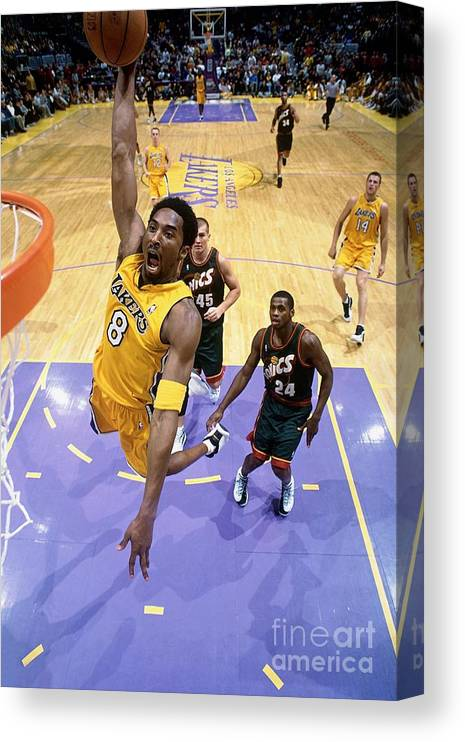 Nba Pro Basketball Canvas Print featuring the photograph Kobe Bryant Classics by Andrew D. Bernstein