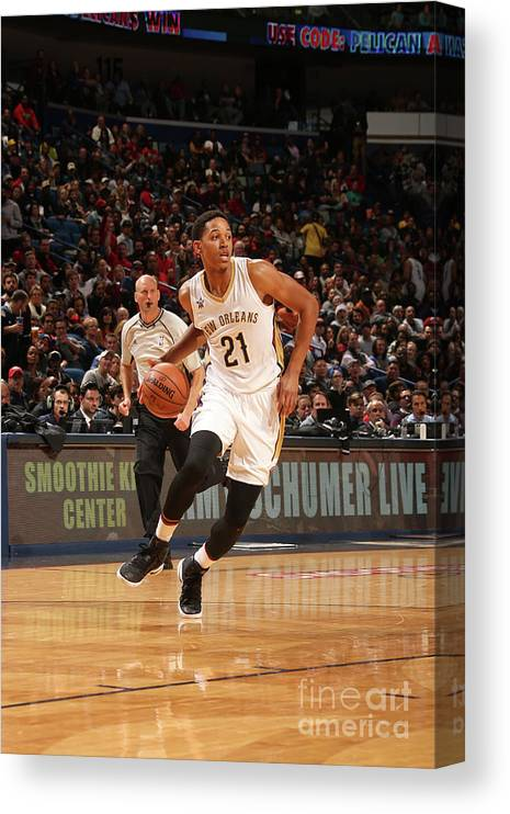 Smoothie King Center Canvas Print featuring the photograph La Clippers V New Orleans Pelicans by Layne Murdoch