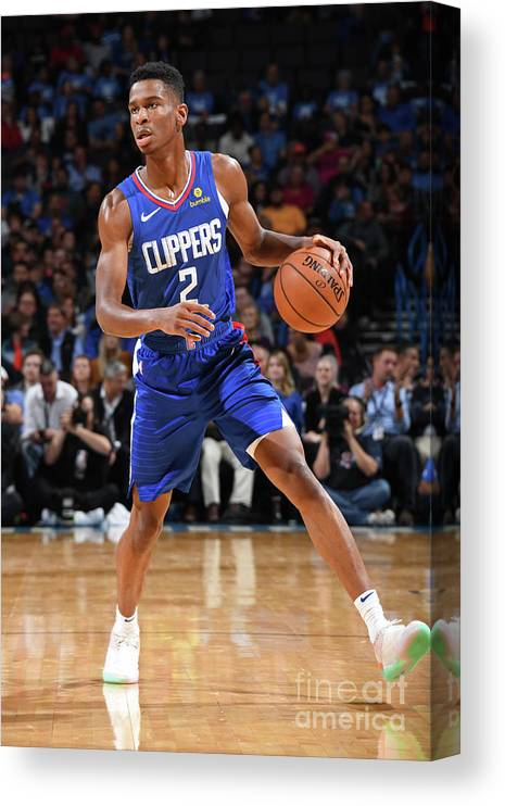 Nba Pro Basketball Canvas Print featuring the photograph La Clippers V Oklahoma City Thunder by Andrew D. Bernstein