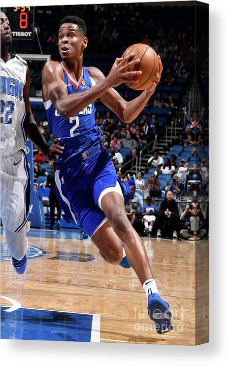 Nba Pro Basketball Canvas Print featuring the photograph La Clippers V Orlando Magic by Fernando Medina