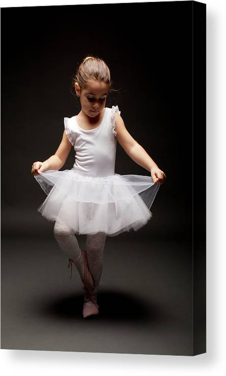 Toddler Canvas Print featuring the photograph Little Ballerina by Georgijevic