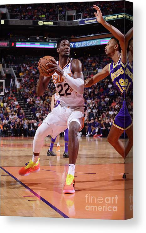 Nba Pro Basketball Canvas Print featuring the photograph Los Angeles Lakers V Phoenix Suns by Michael Gonzales