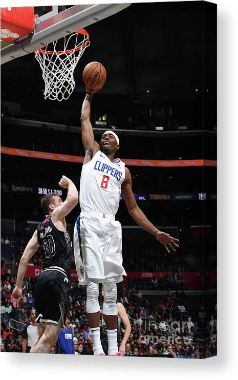 Moe Harkless Canvas Print featuring the photograph Melbourne United V Los Angeles Clippers by Adam Pantozzi