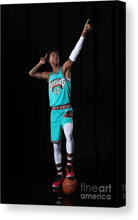 Nba Pro Basketball Canvas Print featuring the photograph Memphis Grizzlies Portrait Shoot In by Joe Murphy