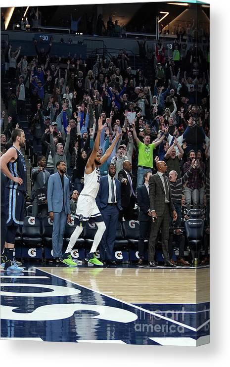 Nba Pro Basketball Canvas Print featuring the photograph Memphis Grizzlies V Minnesota by Jordan Johnson