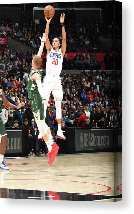 Nba Pro Basketball Canvas Print featuring the photograph Milwaukee Bucks V La Clippers by Andrew D. Bernstein