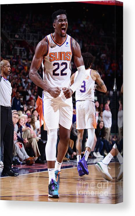 Nba Pro Basketball Canvas Print featuring the photograph Milwaukee Bucks V Phoenix Suns by Michael Gonzales