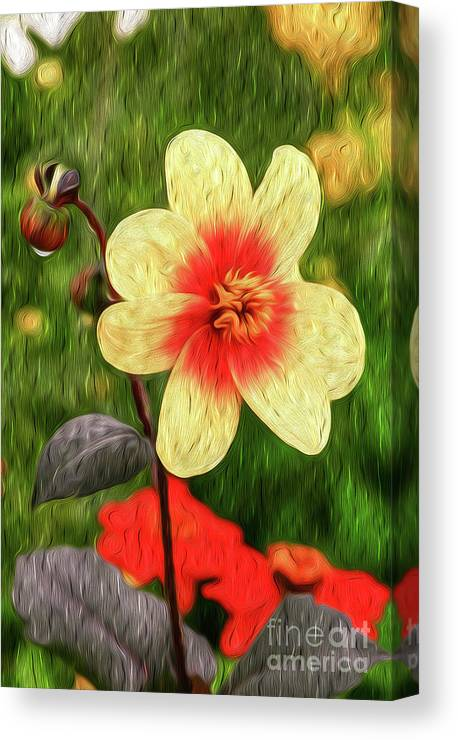Vibrant Canvas Print featuring the digital art Morning Dew II by Kenneth Montgomery