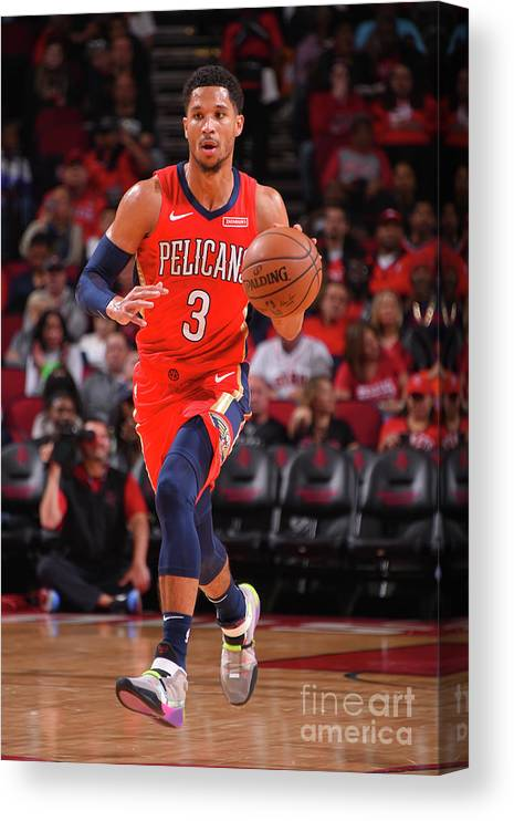 Nba Pro Basketball Canvas Print featuring the photograph New Orleans Pelicans V Houston Rockets by Bill Baptist