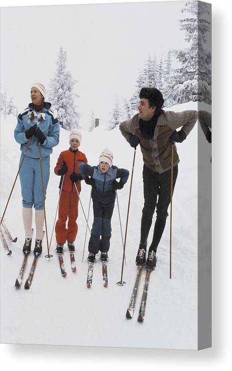 Enjoyment Canvas Print featuring the photograph Norway, Danish Royal Family Skiing by Keystone-france