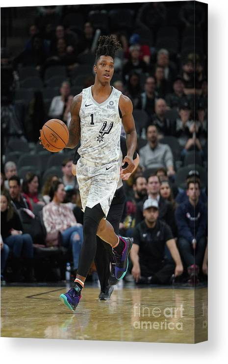 Nba Pro Basketball Canvas Print featuring the photograph Oklahoma City Thunder V San Antonio by Darren Carroll