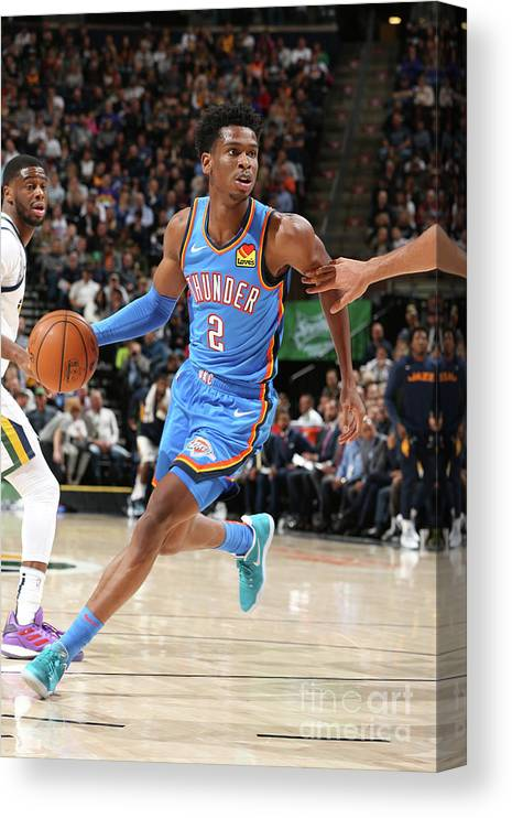 Nba Pro Basketball Canvas Print featuring the photograph Oklahoma City Thunder V Utah Jazz by David Sherman