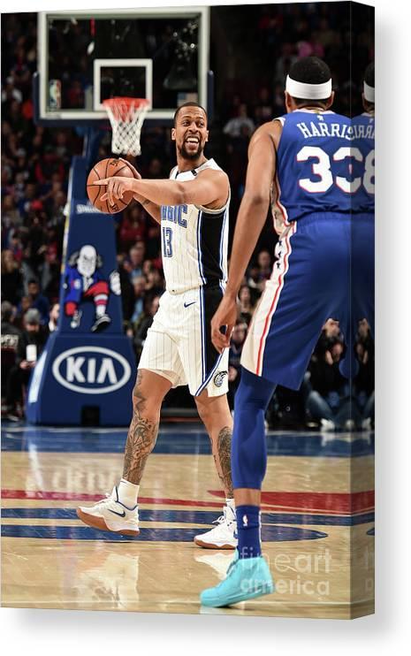 Nba Pro Basketball Canvas Print featuring the photograph Orlando Magic V Philadelphia 76ers by David Dow
