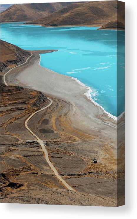Tranquility Canvas Print featuring the photograph Perfect Curve by Touch The Word By Heart.