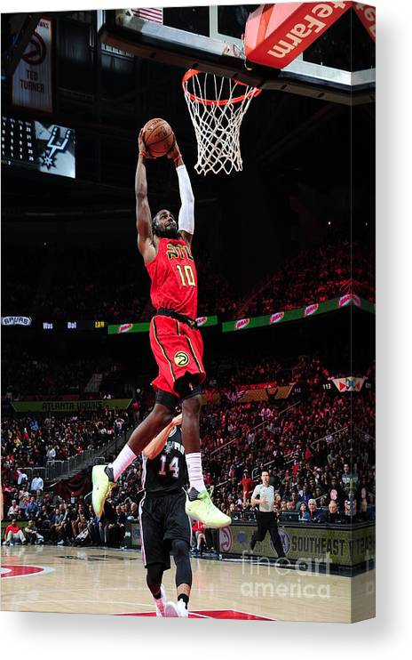 Atlanta Canvas Print featuring the photograph Phoenix Suns V Atlanta Hawks by Scott Cunningham