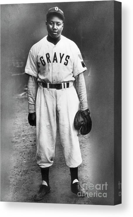 People Canvas Print featuring the photograph Portrait Of Josh Gibson In Grays Uniform by Bettmann